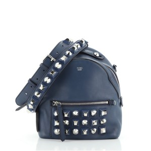 Item - Crossbody The Way Studded Mini Blue Leather Backpack