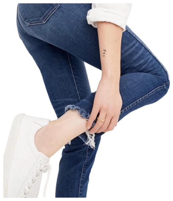 Item - Blue Distressed 9 Inch High Rise Skinny Jeans Size 0 (XS, 25)