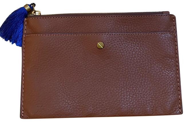 Item - Signet Pouch Brown Leather Wristlet