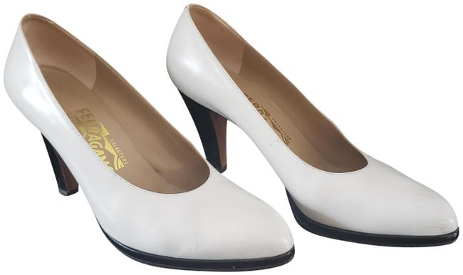 Item - White & Black Azzurra Patent Calf Pumps Size US 9 Regular (M, B)