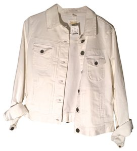 J.Crew White Womens Jean Jacket