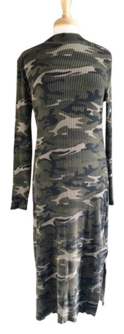 Item - Green Delilah Camouflage Camo Midi Long Casual Maxi Dress Size 6 (S)