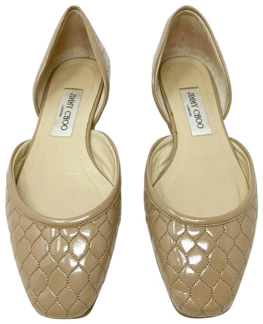 Item - Nude D'orsay Patent Leather Quilted Ballet (8) Flats Size EU 38 (Approx. US 8) Regular (M, B)