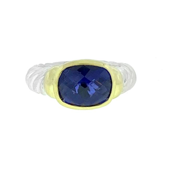 Item - Purple Noblesse Two Tone Iolite Cable Ring