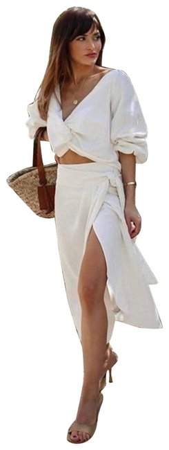 Item - White Rustic Tied Pareo Skirt Size 8 (M, 29, 30)