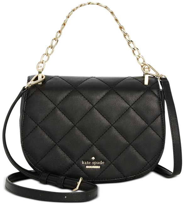 Kate Spade Crossbody Rita Emerson Quilted Black Leather Shoulder Bag Kate Spade Crossbody Rita Emerson Quilted Black Leather Shoulder Bag Image 1