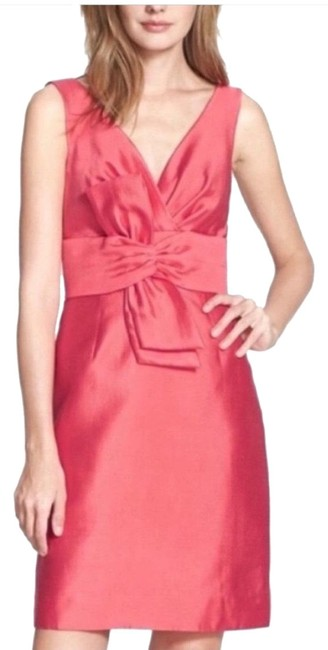 Item - Pink Mina Silk Blend Short Cocktail Dress Size 4 (S)
