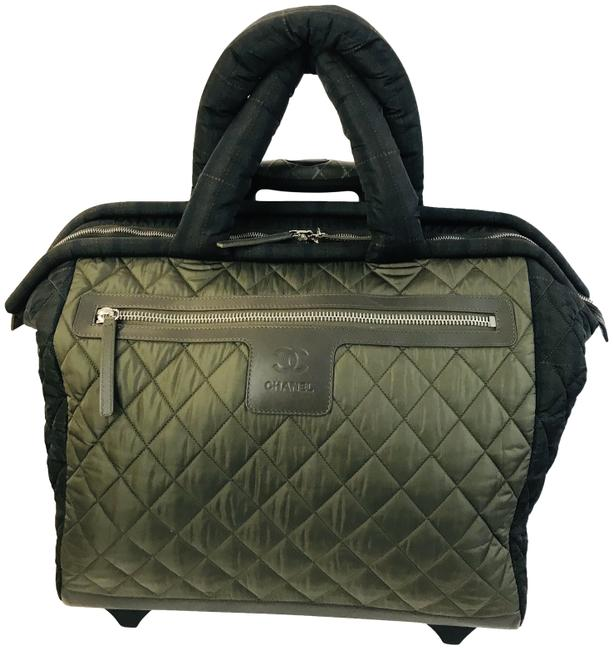Item - Cocoon Coco Quilted Trolley Luggage Wheely Olive Nylon Weekend/Travel Bag