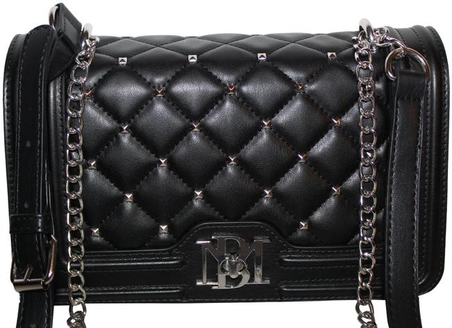 Item - With Bombe On Cover Purse Black Silver Vegan Leather Cross Body Bag