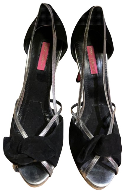 Item - Black and Silver Suede Metallic Platforms Size US 10 Regular (M, B)