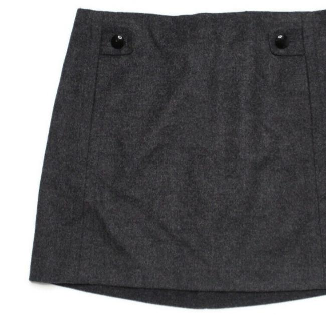 Item - Gray Felted Wool Skirt Size 0 (XS, 25)