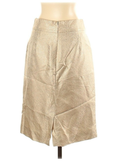 Item - Gold Straight & Pencil Skirt Size 2 (XS, 26)