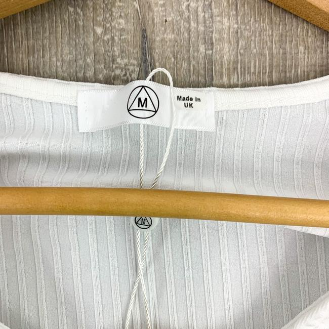 Missguided White Tall Ribbed Ring Bodysuit Blouse Size 4 (S) Missguided White Tall Ribbed Ring Bodysuit Blouse Size 4 (S) Image 10