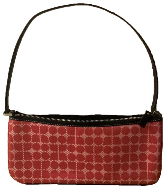 Item - Leather Strap Zippered Red Baguette
