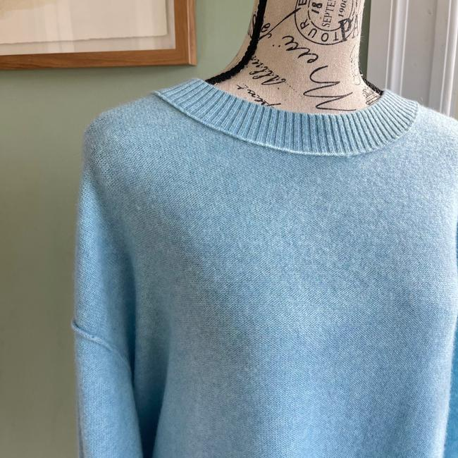 Free People Oversized Cashmere Blue Sweater Free People Oversized Cashmere Blue Sweater Image 2
