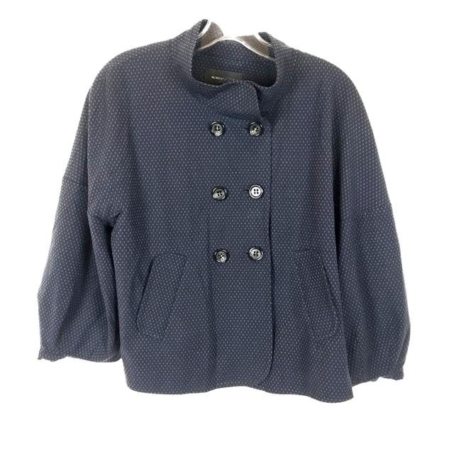 Item - Navy Blue Double Breasted Crop Jacket Size 12 (L)