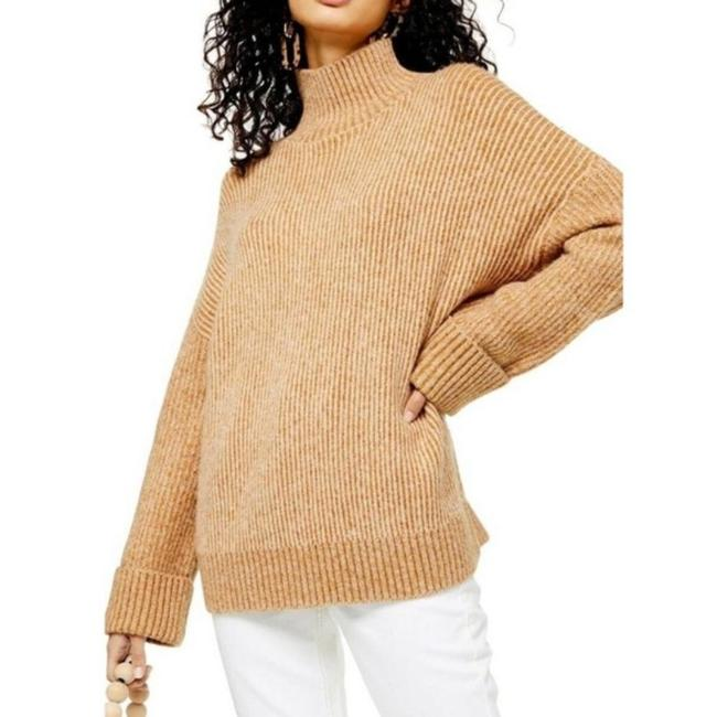 Item - Supersoft Wide Sleeve Turtleneck Tan Sweater