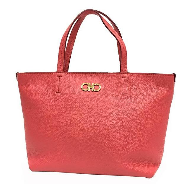 Item - Bag Gancini Ladies Coral Pink Leather Tote