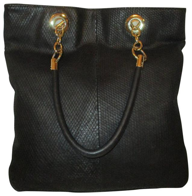 Item - Large Black Leather Tote