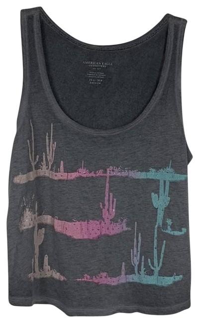 Item - Gray XS Desert Graphic Cropped Tank Top/Cami Size 2 (XS)