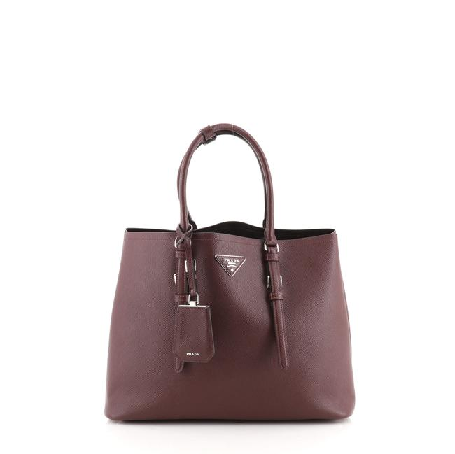 Item - Double Covered Strap Cuir Saffiano Medium Red Leather Tote