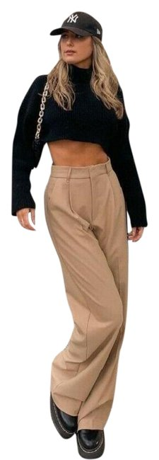 Item - Taupe Brown Favorite Blogger Pleated Pants Size 14 (L, 34)