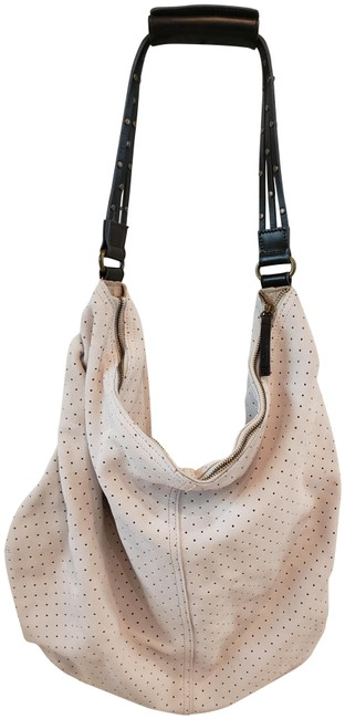 Item - Cutout Grey Suede Leather Hobo Bag
