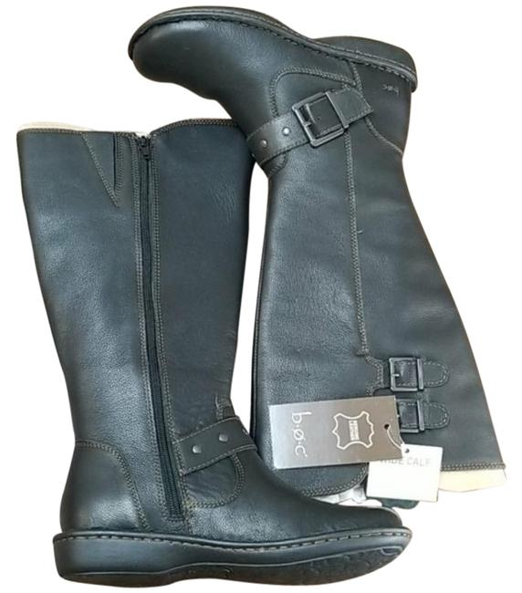 Item - Black Oliver Wide Calf Riding Leather Boots/Booties Size US 7.5 Regular (M, B)