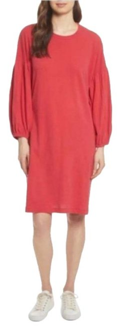 Item - Red Jersey Bishop Sleeve Mid-length Casual Maxi Dress Size 6 (S)
