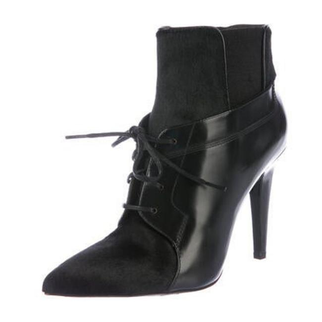 Item - Black Leather Suede Lace Up Boots/Booties Size US 7.5 Regular (M, B)