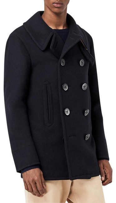 Item - Navy Men's Claythorpe Double-breasted Wool Coat Size 12 (L)