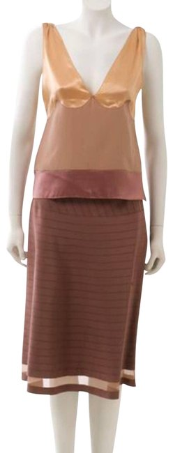 Item - Cream Fall 2003 Rtw Collection Grosgrain Trim A-line Skirt Size 4 (S, 27)
