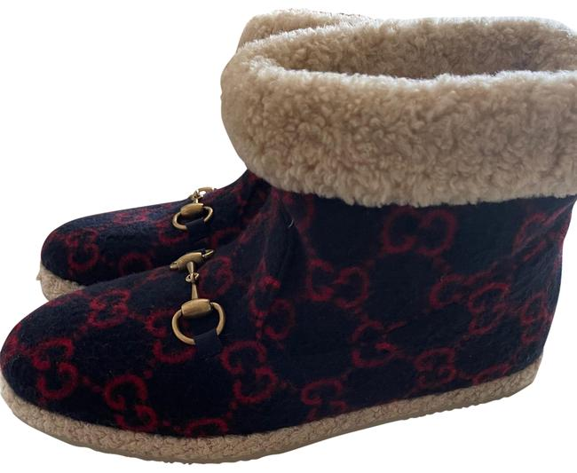 Item - Navy and Red Boots/Booties Size EU 39 (Approx. US 9) Regular (M, B)