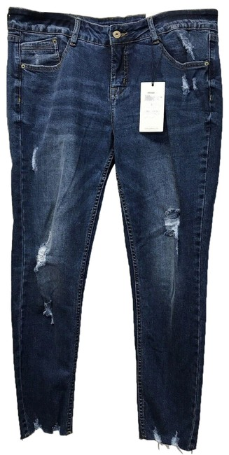 Item - Blue Distressed Straight Leg Jeans Size 30 (6, M)