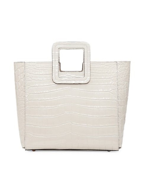 Item - Shirley Croc-embossed Tote Cream Leather Satchel