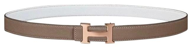 Item - Taupe/White Reversible Taupe/White 24mm Strap. Belt