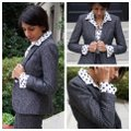 J.Crew Dark Grey Campbell Sparkle Donegal Wool Blazer Size 6 (S) J.Crew Dark Grey Campbell Sparkle Donegal Wool Blazer Size 6 (S) Image 1