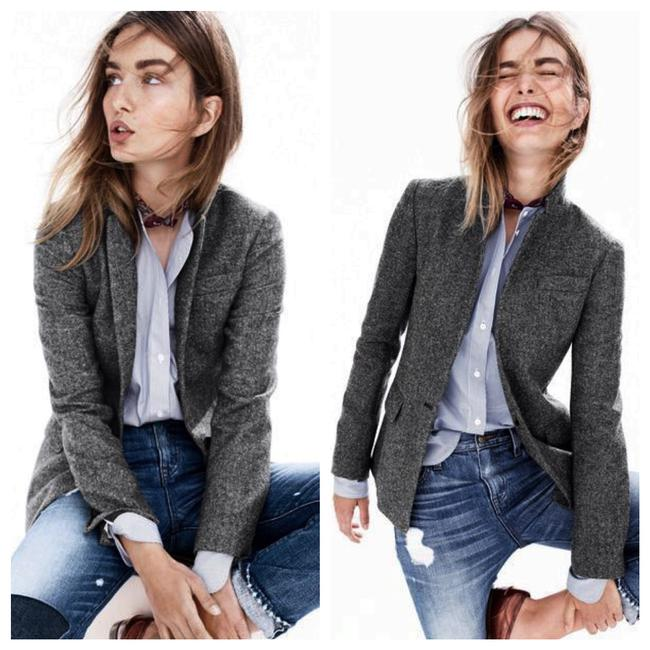 J.Crew Dark Grey Campbell Sparkle Donegal Wool Blazer Size 6 (S) J.Crew Dark Grey Campbell Sparkle Donegal Wool Blazer Size 6 (S) Image 2