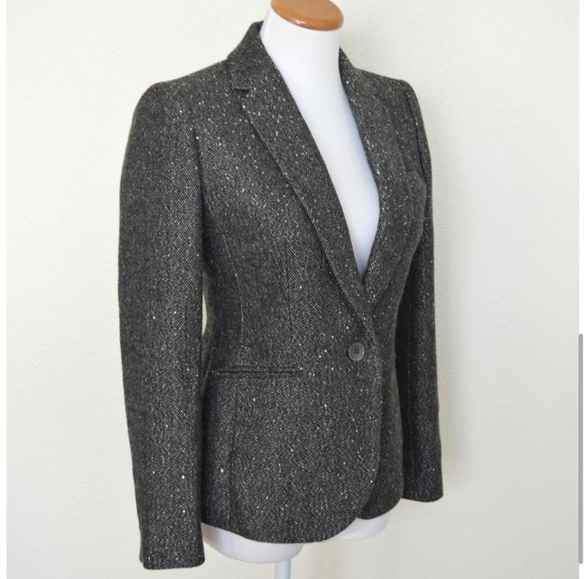 J.Crew Dark Grey Campbell Sparkle Donegal Wool Blazer Size 6 (S) J.Crew Dark Grey Campbell Sparkle Donegal Wool Blazer Size 6 (S) Image 4