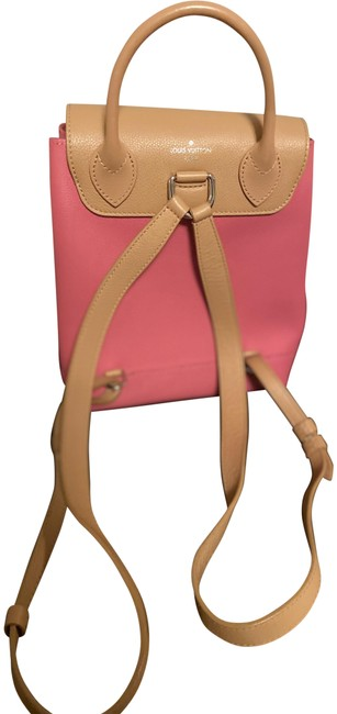 Item - Lockme Pink and Beige Taurillon Leather Backpack