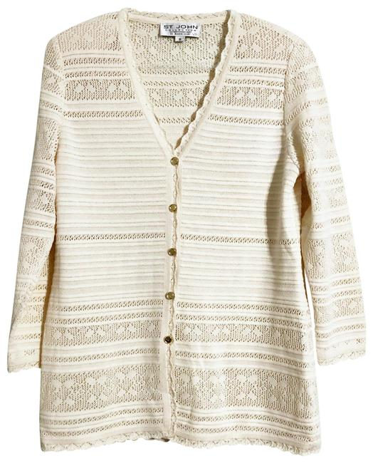 Item - Cream Color By Marie Gray Cardigan Size 8 (M)