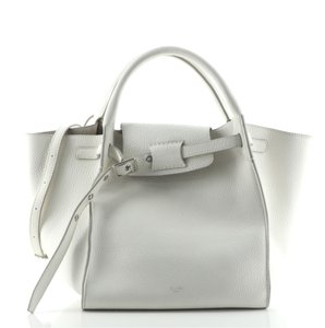 Item - Big Bag Grained Calfskin Small White Leather Tote
