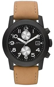 Marc Jacobs Marc By Marc Jacobs Larry Tan Leather Chronograph Mens Watch Mbm5053