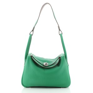 Item - Lindy Eclat Clemence 26 Green Leather Shoulder Bag