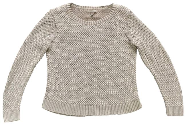 Item - Womens Ivory Chunky Knit Tan Sweater