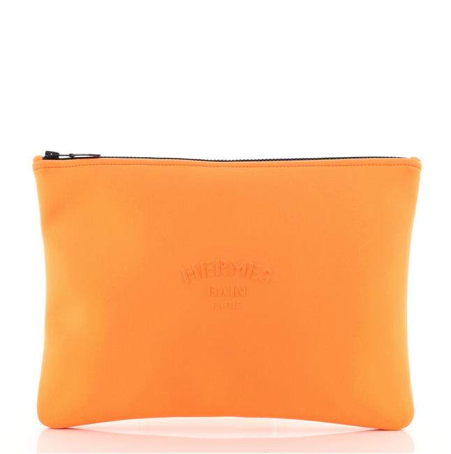 Item - Neobain Case Large Orange Neoprene Clutch
