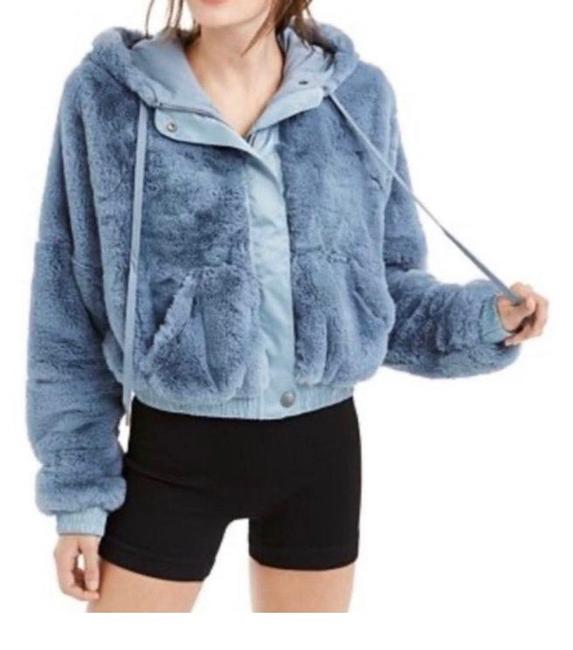 Free People Blue/Grey Love It Soft Activewear Outerwear Size 0 (XS) Free People Blue/Grey Love It Soft Activewear Outerwear Size 0 (XS) Image 1