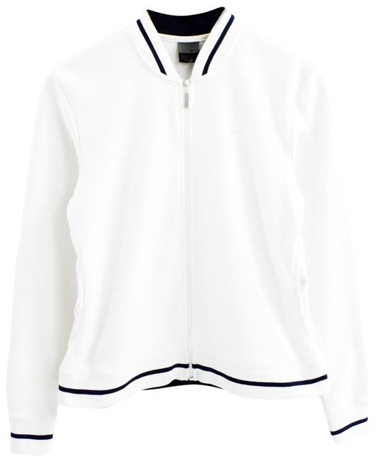 Item - White/Black Zip Up Track #197-16 Activewear Outerwear Size 4 (S)