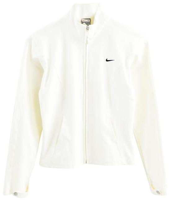 Item - White Zip Up #197-14 Activewear Outerwear Size 4 (S)