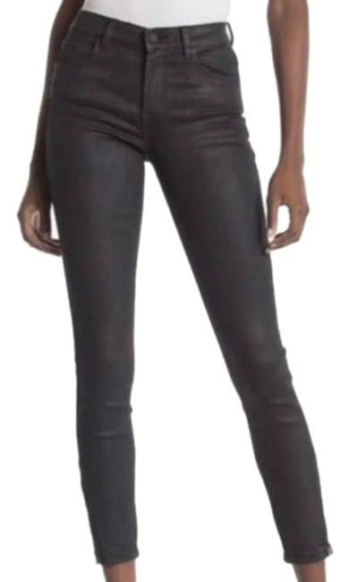 Item - Black Coated The Bond Stretch Skinny Jeans Size 27 (4, S)